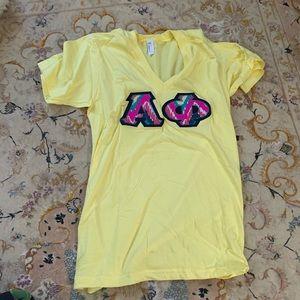 Small Alpha Phi Letter Shirt
